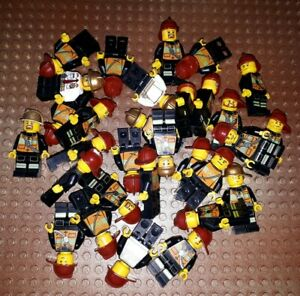 10-LEGO-CITY-pompiers-personnages-minifig-Station-POMPIER-FIREFIGHTER