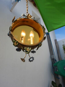 Antique-Lantern-Sheet-Metal-Painted-Chandelier