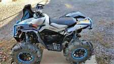 can am can-am renegade 1000 xmr custom mudding / swamp seat  cover  octane blue