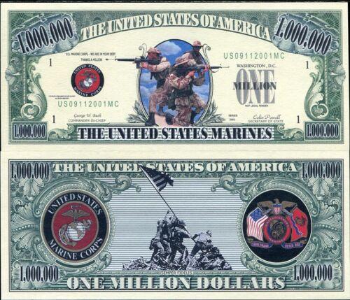 "UNITED STATES /""USA MARINES/"" FANCY DOLLAR BILL UNC"