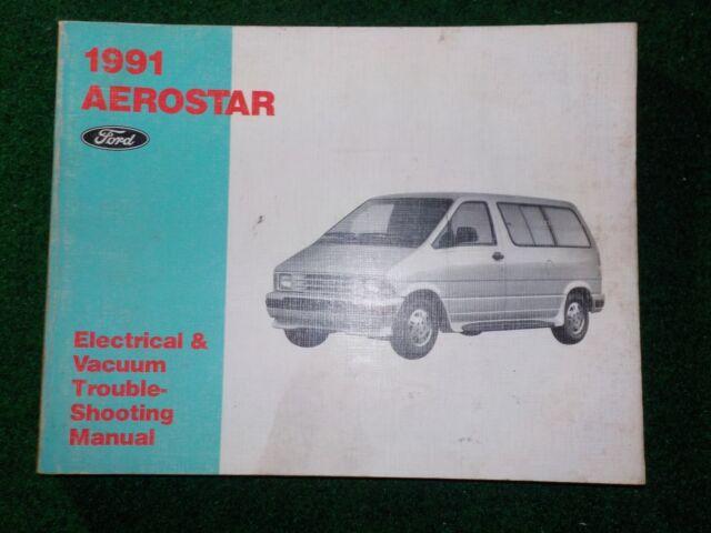 1991 Ford Aerostar Van Electrical Wiring Diagram Manual
