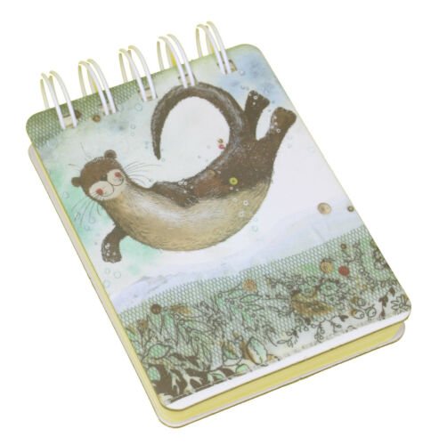Otter Marine Sea Small Spiral Bound Chunky Notebook Lined Pages Perfect Gift