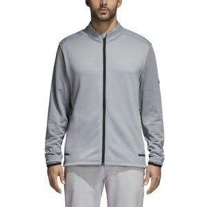 Adidas-Golf-Men-039-s-Climaheat-Full-Zip-Jacket-BC6774-Mid-Grey-Pick-Size