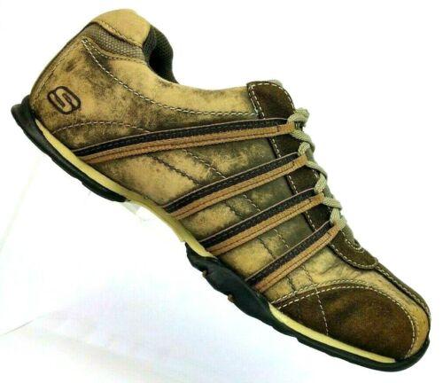 Skechers Uomo Comfort pelle 7 Sport Sneaker largo Marrone Extra 60326ew in afflitta qn8wFrqEXx