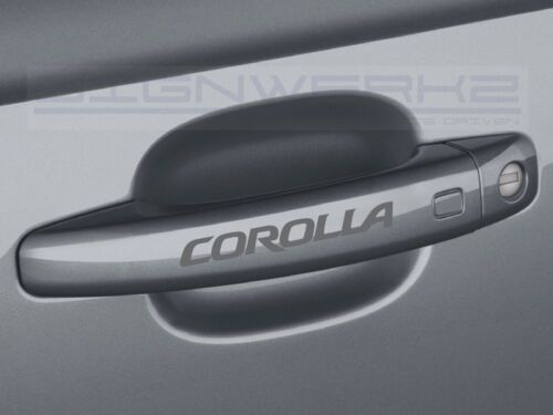Set of 4 Corolla Door Handle Sticker logo TRD toyota Racing