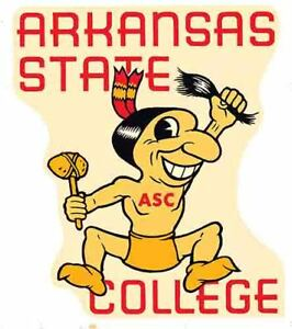 Arkansas State University College Vintage 1950 S Style Travel Decal Sticker Ebay