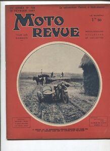 Moto Revue N°728 ; 20 Fevrier 1937 : Vélomoteur Terrot à Kick-starter 5 Photos Avoir Un Style National Unique