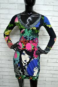 Vestito-DESIGUAL-Donna-Taglia-XS-Abito-Dress-Maglia-Shirt-Woman-Abito-Floreale