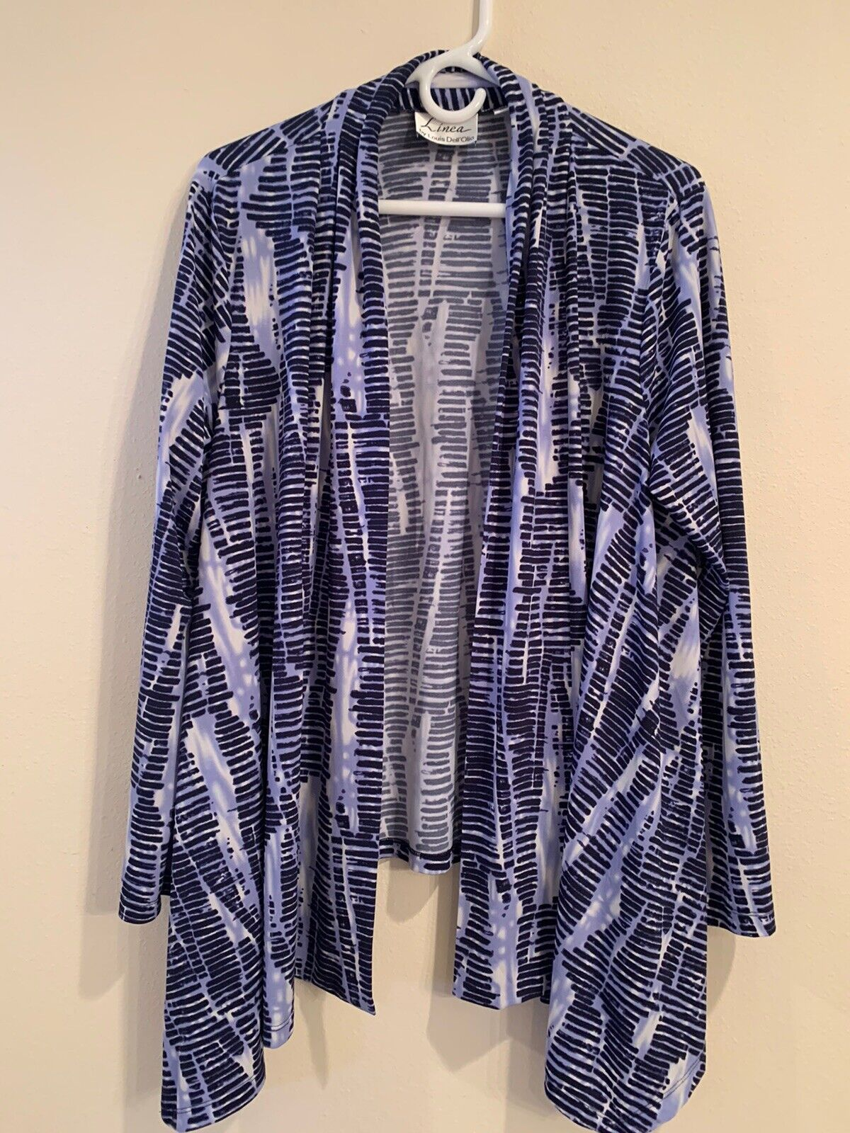 linea by louis dell'olio navy/lilac knit cardigan - image 1