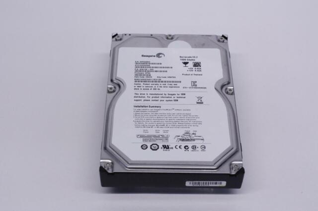 Seagate ST31000525SV 1TB 7200RPM 3Gb//s 32MB 3.5in SATA Hard Drive