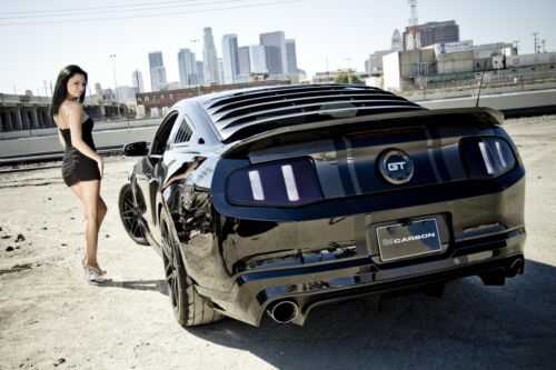 """FORD MUSTANG HOT GIRL A1 CANVAS PRINT POSTER 33.1/"""" x 21.4/"""""""
