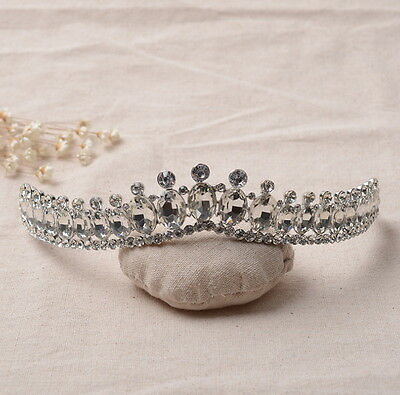 3cm High Elegant Full Crystal Wedding Bridal Bridesmaid Party Prom Pageant Tiara