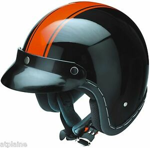 CASQUE-JET-Homologue-Bord-pique-main-ABS-Noir-et-Orange-Taille-L