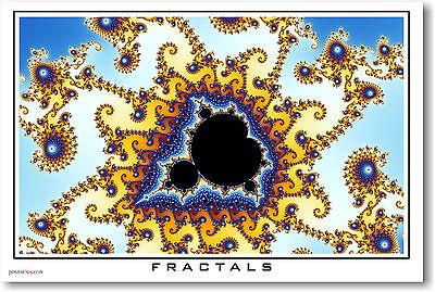 Fractals #4 Math Classroom School POSTER