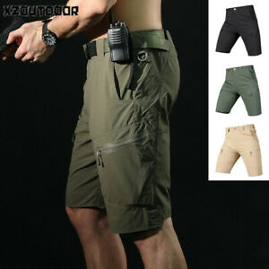 Mens-Cargo-Shorts-Army-Combat-Tactical-Military-Summer-Quick-Dry-Casual-Hiking