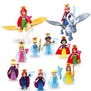 Princesse Lego Figures Building Block Cendrillon Mermaid FIT LEGO 8Pcs