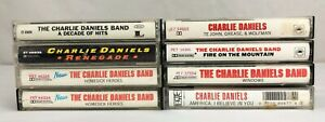 Lot of 8 CHARLIE DANIELS BAND Cassette Tapes ~ Te John, Grease & Wolfman + More