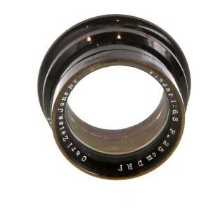 Vintage Carl Zeiss Jena 25cm f/6.3 Tessar 250mm DRP Brass Large Format Lens - UG