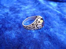 edler Ring__925 Silber___mit rotem Stein __Facettenschliff___!