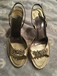 Nuovo Size Sandle Haan gold Broach Cole Crystal indossato mai Heels 9 PgYn5wx