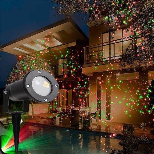 Faro Proiettore Luci Natalizie.Faro Proiettore Luci Di Natale Laser Giardino Addobbi Natalizi Giochi Di Luce