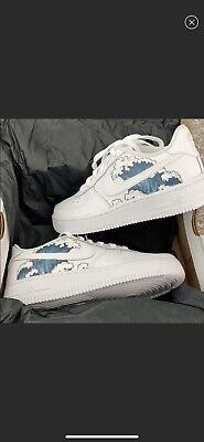 Nike Air Force 1 Custom Wave Design Ebay