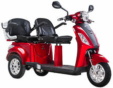 Elektromobil, Zweisitzer, E-Mobil, Seniorenfahrzeug, E-Dreirad Rot