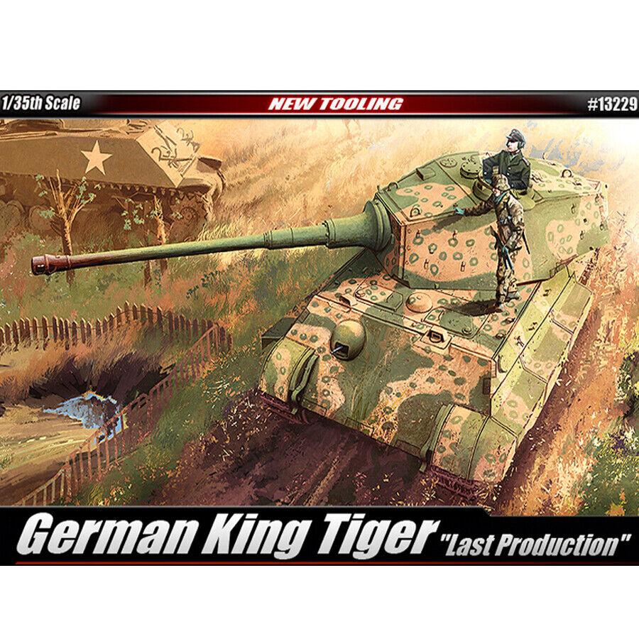 Academy 1 35 German King Tiger Last Production Plastic Model Kit Tank