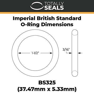 ID Nitrile Rubber 70A Shore Metric Seals U O-Rings 47mm Inner Diameter