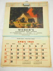 Calendario Parete.Dettagli Su 1962 Town Country Da Cucina Calendario Parete Weber S Lavavetri Dyers