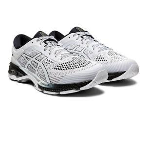 Asics-Homme-Gel-Kayano-26-Chaussures-De-Course-Baskets-Baskets-Blanc-Sports
