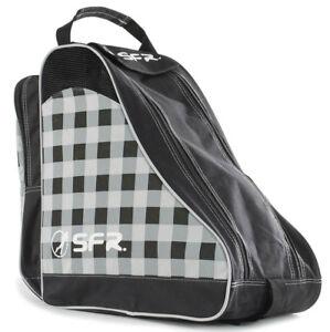 Actif Sfr - Designer & Glace Skate Sac - Noir/chequered- Roller Skate Sac Transport