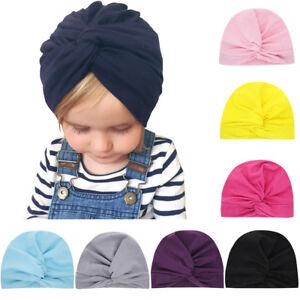 Newborn-Headwear-Toddler-Turban-Cute-Baby-Hat-Knotted-Headband-Beanie-Cap