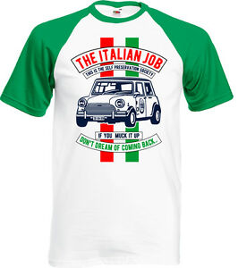 70118a0d The Italian Job Mens Funny T-Shirt Mini Cooper Movie Classic Car ...