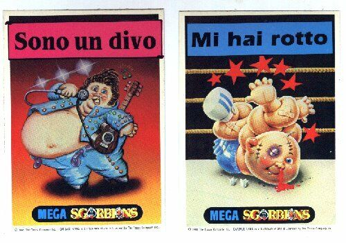 Sgorbions Mega Cards II Figurine Serie Cpl Varianti
