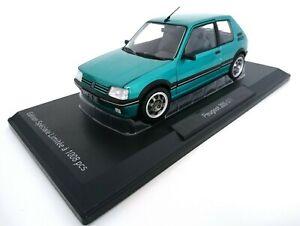 Vehicule-Miniature-Peugeot-205-GTI-Griffe-1-9L-1990-Vert-Echelle-1-18-Norev