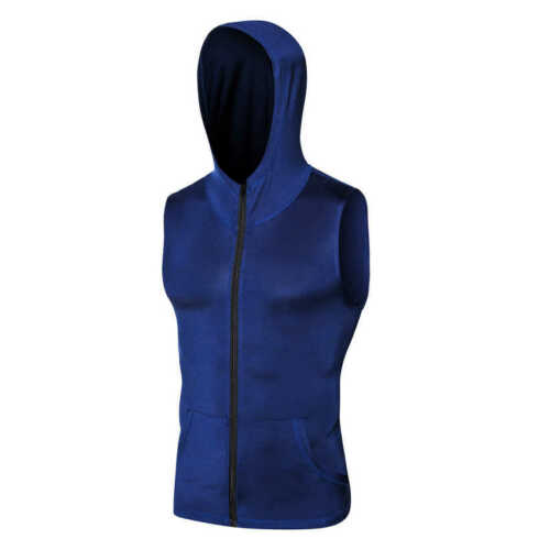 Men/'s Athletic Workout Hoodies Running Basketball Gym Sleeveless Dri fit Tops