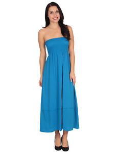 Women S Strapless Maxi Dress Tube Top Summer Beach Long Sundress