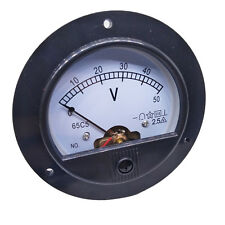 Us Stock Dc 0 50v Round Analog Volt Pointer Needle Panel Meter Voltmeter