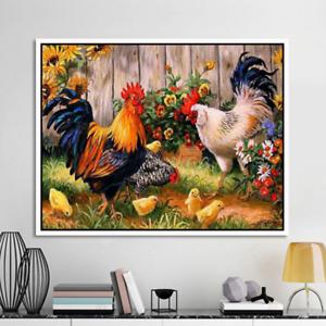 DIY Diamond Painting Cock Animal Painting Embroidery Crafts Wall Decor Art M4