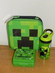 Zak Minecraft Creeper Lunch Bag Water Bottle Amp Snack