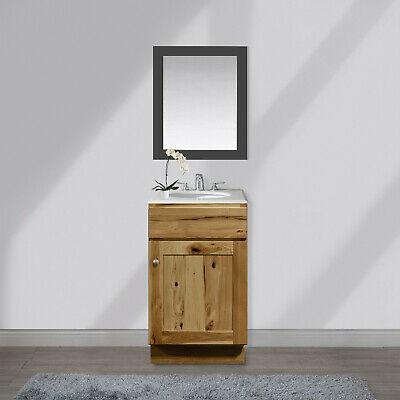 "21"" inch Solid Wood Bathroom Vanity Single Sink Base ..."