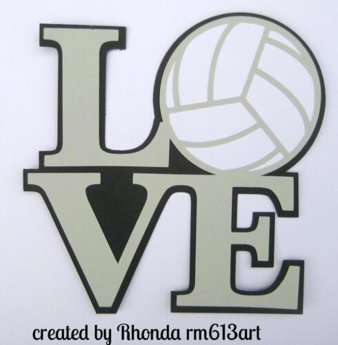 LOVE VOLLEYBALL TITLE  sport scrapbook premade paper piecing by Rhonda