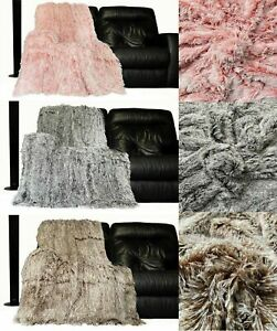 Super-Soft-Large-Throws-Cuddly-2-TONE-Faux-Fur-Fluffy-Throw-over-150cm-x-200cm