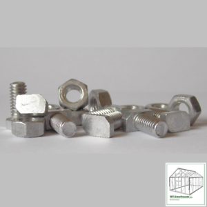 M6 Greenhouse Aluminium Nuts x 100
