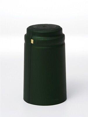 100 Green shrink on caps for smart home wine bottles.
