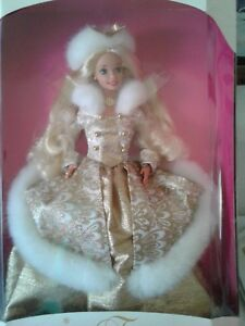 Mattel-1996-Winter-Fantasy-Barbie-Doll-Special-Edition-Blonde