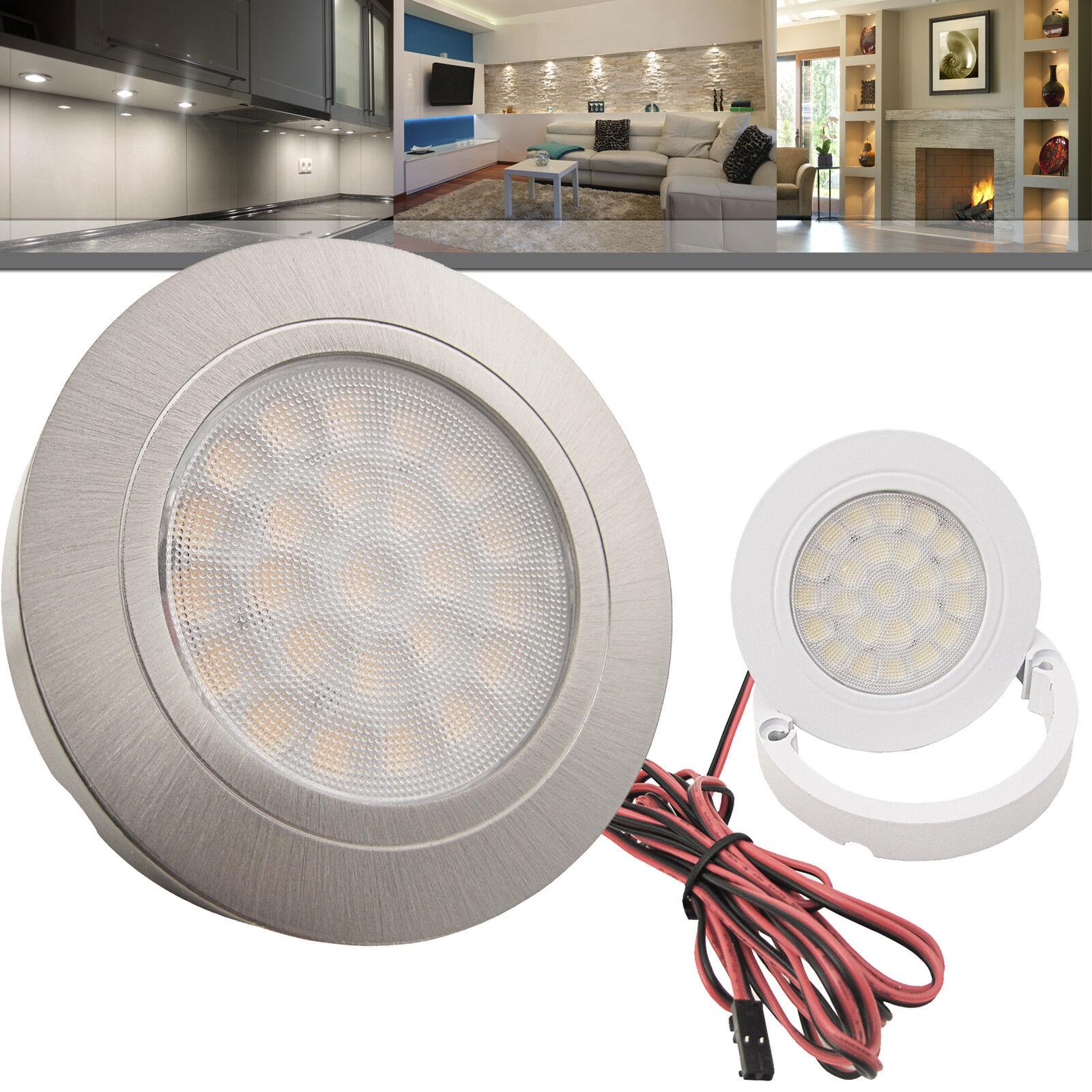 LED Einbauleuchte Möbelleuchte Einbaustrahler Spot Küche 2W WARMWEISS SET LUCCA