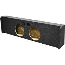 "EMPTY Dual 12"" SubWOOFER Sub Speaker BOX Under seat Downfiring Ford F150 09-16"
