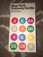 1972 (2) New York City Subway Map Guide Massimo Vignelli NYC MoMa TA